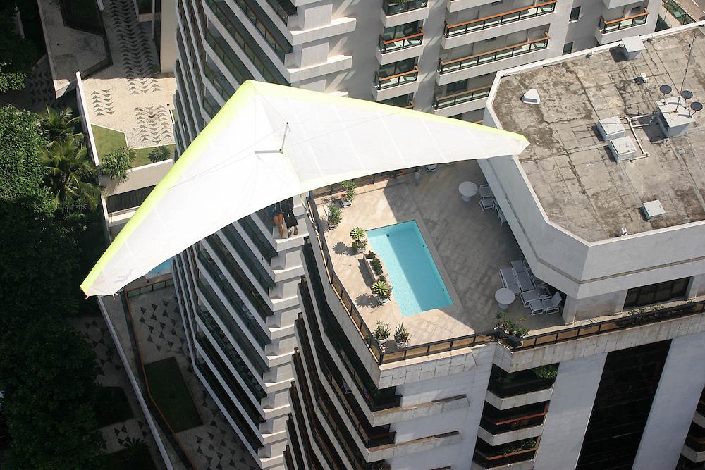 Brazil. Hand Gliding over rio de janeiro