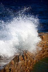 UK CORNWALL SENNEN COVE 10JUN08 - Waves crash against the harbour wall at Sennen Cove in Cornwall, western England...jre/Photo by Jiri Rezac / WWF UK..© Jiri Rezac 2008..Contact: +44 (0) 7050 110 417.Mobile:  +44 (0) 7801 337 683.Office:  +44 (0) 20 8968 9635..Email:   jiri@jirirezac.com.Web:    www.jirirezac.com..© All images Jiri Rezac 2008 - All rights reserved.