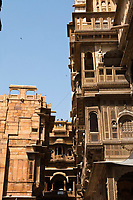 haveli of jaisalmer in rajasthan state in india