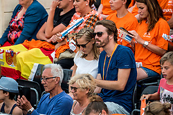 20-07-2018 NED: CEV DELA Beach Volleyball European Championship day 6<br /> Press officer Thijs Pietersen and Cate Caroline