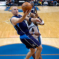 21 December 2008:   Dallas Mavericks guard Jason Kidd (2) goes to the basket on a fast break in the 4th quarter against the Washington Wizards at the Verizon Center in Washington, D.C.  The Mavericks defeated the Wizards 97-86 to send the Wizards record to 4-21.