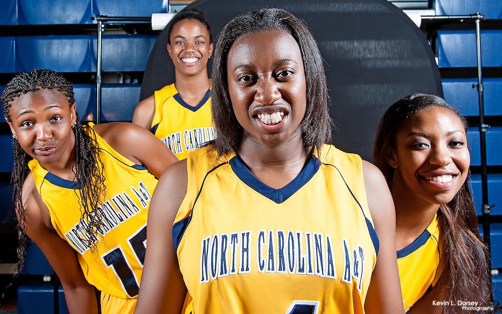 2014-15 A&T WBB Soph.- Makayla Williams, Kenya Hailey, Dana Brown & Whitney Martin