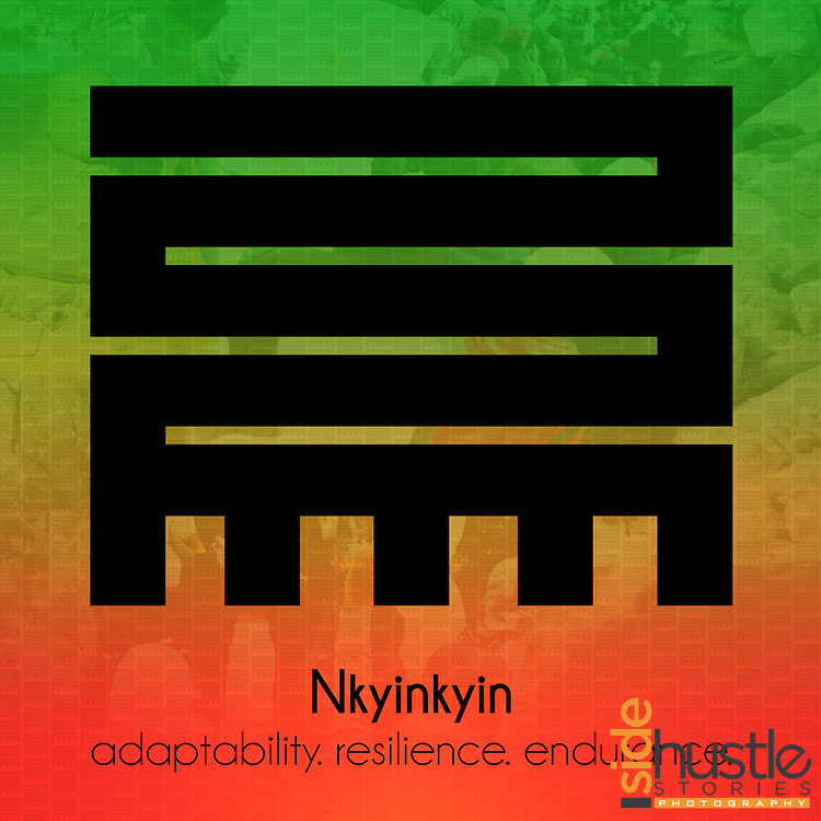 Nkyinkyin represents the ability to resist and adapt to the changes of life.<br />