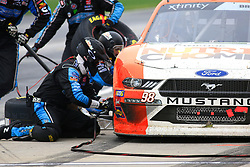 February 23, 2019 - Hampton, GA, U.S. - HAMPTON, GA - FEBRUARY 23: #98: Chase Briscoe, Stewart-Haas Racing, Ford Mustang Nutri Chomps pits during the Rinnai 250 on February 23, 2019 at the Atlanta Motor Speedway in Hampton, GA.  (Photo by David J. Griffin/Icon Sportswire) (Credit Image: © David J. Griffin/Icon SMI via ZUMA Press)