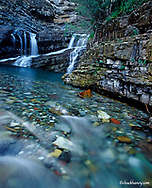 Cameron Falls in the Waterton Lakes National Park of Alberta Canada