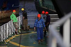 NETHERLANDS AMSTERDAM 11MAY11 - Deck crew aboard the Arctic Sunrise......Photo by Jiri Rezac / Greenpeace