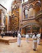 Shintaido &quot;Les Trois Cercles&quot; et l'ensemble Da Capo, chorale : Bach &agrave; capella <br />  -  Chapelle Notre-Dame du Sacr&eacute;-Coeur / Montreal / Canada / 2015-04-12, &copy; Photo Marc Gibert / adecom.ca