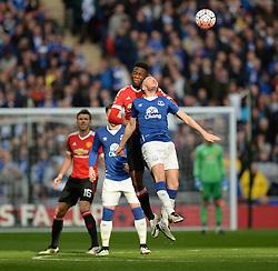 Timothy Fosu-Mensah of Manchester United wins a high ball. - Mandatory by-line: Alex James/JMP - 23/04/2016 - FOOTBALL - Wembley Stadium - London, England - Everton v Manchester United - The Emirates FA Cup Semi-Final