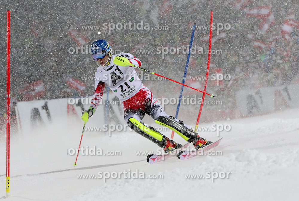 27.01.2015, Planai, Schladming, AUT, FIS Weltcup Ski Alpin, Nightrace, Slalom, Herren, 1. Durchgang, im Bild Benjamin Raich (AUT) // Benjamin Raich of Austria in action during 1st run of mens slalom of the Schladming FIS Ski Alpine World Cup at the Planai course in Schladming, Austria on 2015/01/27. EXPA Pictures © 2015, PhotoCredit: EXPA/ Martin Huber