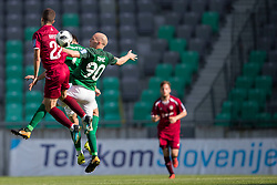 Nejc Punsnik of NK Triglav Kranj and Tomislav Tomic of NK Olimpija Ljubljana during football match between NK Olimpija Ljubljana and NK Triglav Kranj in Round #31 of Prva liga Telekom Slovenije 2017/18, on May 6, 2018 in SRC Stozice, Ljubljana, Slovenia. Photo by Urban Urbanc / Sportida