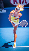 Maria Sharapova plays at the 2013 Australian Open - a Grand Slam Tournament, The tournament is the opening event of the tennis calendar annually. The Open is held each January in Melbourne, Australia.