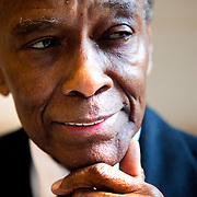 NEW YORK, NY - MAY 11, 2015: Arthur Mitchell, the founder of Dance Theater of Harlem and the first black principal of the New York City Ballet, poses for a portrait  at the Butler Library at Columbia University. The Rare Book and Manuscript Library has acquired Mr. Mitchell's archives.  CREDIT: Sam Hodgson for The New York Times