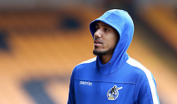Cristian Montano of Bristol Rovers arrives at Vale Park for the Sky Bet League One fixture against Port Vale - Mandatory by-line: Robbie Stephenson/JMP - 18/02/2017 - FOOTBALL - Vale Park - Stoke-on-Trent, England - Port Vale v Bristol Rovers - Sky Bet League One