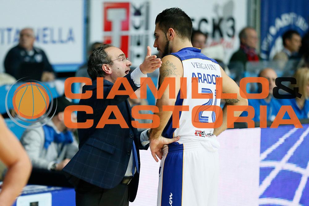 DESCRIZIONE : Cantu Lega A 2013-14 Acqua Vitasnella Cantu Sutor Montegranaro<br /> GIOCATORE : Pietro Aradori Stefano Sacripanti<br /> CATEGORIA : Ritratto<br /> SQUADRA : Acqua Vitasnella Cantu<br /> EVENTO : Campionato Lega A 2013-2014<br /> GARA : Acqua Vitasnella Cantu Sutor Montegranaro<br /> DATA : 29/12/2013<br /> SPORT : Pallacanestro <br /> AUTORE : Agenzia Ciamillo-Castoria/G.Cottini<br /> Galleria : Lega Basket A 2013-2014  <br /> Fotonotizia : Cantu Lega A 2013-14 Acqua Vitasnella Cantu Sutor Montegranaro<br /> Predefinita :
