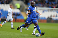 Sol Bamba of Cardiff city in action. EFL Skybet championship match, Cardiff city v Millwall at the Cardiff city stadium in Cardiff, South Wales on Saturday 28th October 2017.<br /> pic by Andrew Orchard, Andrew Orchard sports photography.
