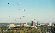Hot air balloons over Boise.