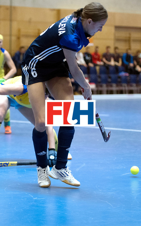 BERLIN - Indoor Hockey World Cup<br /> Kazakhstan - Russia<br /> foto: Kseniia Koroleva <br /> WORLDSPORTPICS COPYRIGHT FRANK UIJLENBROEK