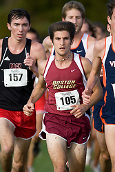 Boston College Golden Eagles Patrick Mellea (105)..The Atlantic Coast Conference Cross Country Championships were held at Panorama Farms near Charlottesville, VA on October 27, 2007.  The men raced an 8 kilometer course while the women raced a 6k course.