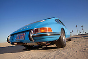 Image of a blue 1971 911T in Long Beach, California, America west coast, property released