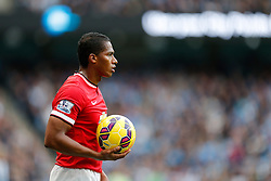Luis Antonio Valencia of Manchester United looks on - Photo mandatory by-line: Rogan Thomson/JMP - 07966 386802 - 02/11/2014 - SPORT - FOOTBALL - Manchester, England - Etihad Stadium - Manchester City v Manchester United - Barclays Premier League.