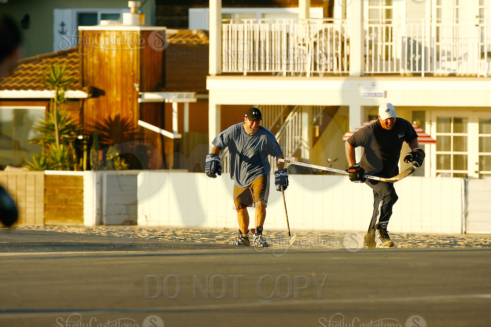 22 January 2011:  PBHA outdoor roller hockey on the blacktop at the beach.
