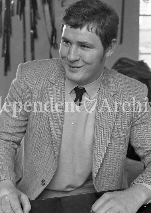 Professional Boxer Paddy Finn, 10/05/1983 (Part of the Independent Newspapers Ireland/NLI Collection).