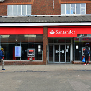 Santander close During the coronavirus in UK lockdown, at Walthamstow Market, London.