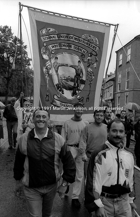 Whitemoor Branch banner. 1991 Yorkshire Miners Gala. Doncaster.