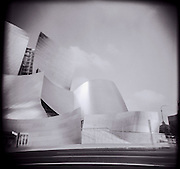 Walt Disney Music Hall in downtown Los Angeles, California.