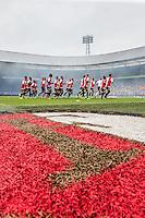 ROTTERDAM - Eerste training van Feyenoord , voetbal , seizoen 2015-2016 , Stadion De Kuip , 28-06-2015 , Speler lopen warm
