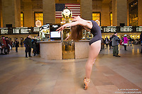 Grand Central Terminal Dance As Art New York City Photography Project with ballerina Jenna Macvicar