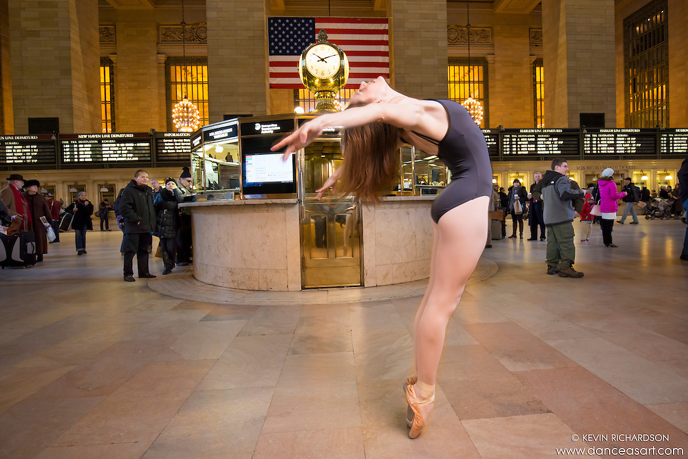 Grand Central Terminal Dance As Art New York City Photography Project with ballerina Jenna Macvicar