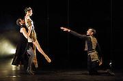 Orpheus<br /> choreography by Will Tuckett<br /> <br /> Ballet Black <br /> Artistic director Cassa Pancho<br /> <br /> Jade Hale-Christofi (as Hades, King of the Underworld)<br /> Sarah Kundi (as Eurydice)<br /> Damien Johnson (as Orpheus)<br /> <br /> <br /> <br /> Photograph by Elliott Franks
