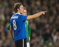 Fussball International, Nationalmannschaft   EURO 2012 Play Off, Qualifikation, Irland - Estland 15.11.2011 Vladimir VOSKOBOINIKOV (EST)