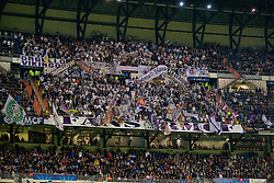 MADRID, SPAIN - Tuesday, November 4, 2014: Real Madrid supporters during the UEFA Champions League Group B match against Liverpool at the Estadio Santiago Bernabeu. (Pic by David Rawcliffe/Propaganda)