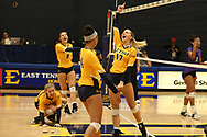 October 28, 2017 - Johnson City, Tennessee - Brooks Gym: ETSU middle blocker Braedyn Tutton (17)<br /> <br /> Image Credit: Dakota Hamilton/ETSU