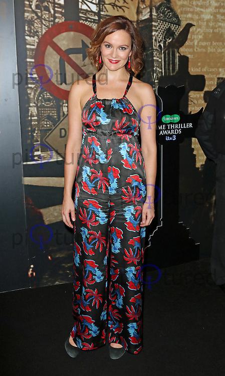 Rachael Stirling, Specsavers Crime Thriller Awards, Grosvenor House Hotel, London UK, 24 October 2014, Photo by Richard Goldschmidt
