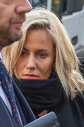 © Licensed to London News Pictures. 23/12/2019. London, UK. Caroline Flack arrives at Highbury Corner Magistrates' Court. Photo credit: Peter Manning/LNP