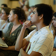 SEPTEMBER 26, 2017---MIAMI, FLORIDA---<br /> Audience members, including many students, listen to panel discussion. This was part of the Miami Dade College series, By the People.<br /> (Photo by Angel Valentin/Freelance).