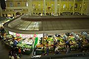 Looking down on the indoor food market, Porte Alegre, Brazil.