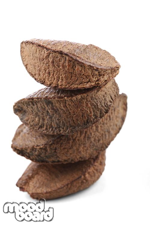 Brazil nut on white background