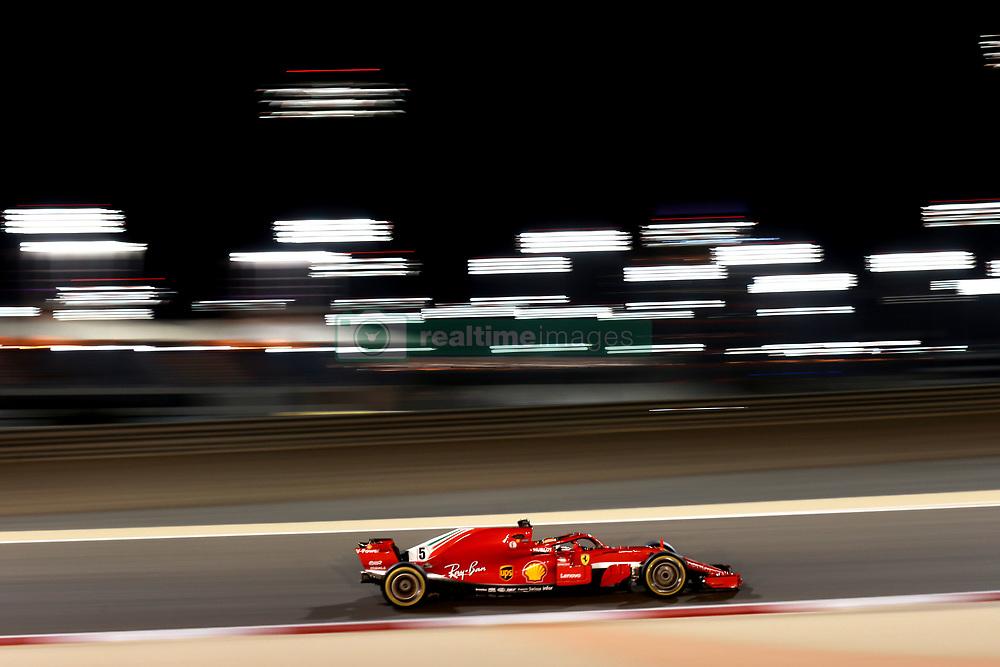 April 6, 2018 - Sakhir, Bahrain - Motorsports: FIA Formula One World Championship 2018, Grand Prix of Bahrain, , #5 Sebastian Vettel (GER, Scuderia Ferrari) (Credit Image: © Hoch Zwei via ZUMA Wire)