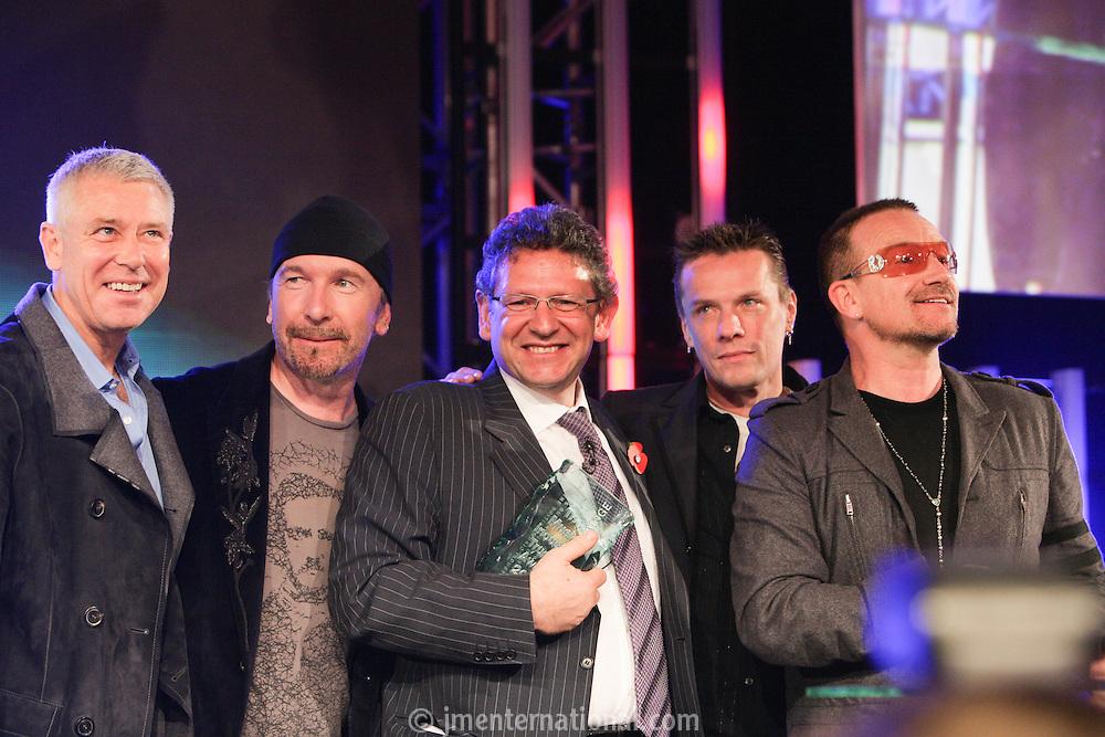 Lucian Grainge and U2