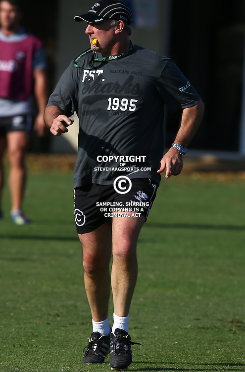 DURBAN, SOUTH AFRICA Friday 3rd July 2015 - Gary Gold (Sharks Director of Rugby) during the Cell C Sharks training session at Growthpoint Kings Park in Durban, South Africa. (Photo by Steve Haag)