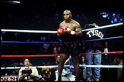 8 Jun 2002:    Mike Tyson during the Lennox Lewis vs Mike Tyson heavyweight title fight at the Pryamid Arena in Memphis, Tennessee. Lewis won by knocking out Tyson in the eight round and remained the IBF and WBC champion. ..Mandatory Credit:  John Iacono/SI/Icon SMI