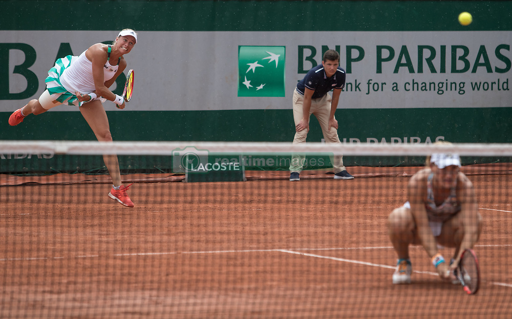 June 2, 2017 - Paris, France - Tímea Babos of Hungary and Andrea Hlavackova of Czeh Republic plays against Raluca Olaru of Romania and Olga Savchuk of Ukrain during the second round at Roland Garros Grand Slam Tournament - Day 6 on June 2, 2017 in Paris, France. (Credit Image: © Robert Szaniszlo/NurPhoto via ZUMA Press)
