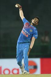 March 8, 2018 - Colombo, Sri Lanka - Indian cricketer Yuzvendra Chahal delivers a ball during the 2nd T20 cricket match of NIDAHAS Trophy between India  and Bangladesh at R Premadasa cricket ground, Colombo, Sri Lanka on Thursday 8 March 2018. (Credit Image: © Tharaka Basnayaka/NurPhoto via ZUMA Press)