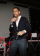 Ryan Leslie at John Legend Presents Vaughn Anthony at SOB's, the second artis off his label ' HomeSchool Records'  in New York City on May 14, 2009