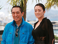 Director Yimou Zhang and actress Gong Li at the photo call for the film Coming Home at the 67th Cannes Film Festival, Tuesday 20th May 2014, Cannes, France.
