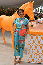 TOLULA ADEYEMI at the Veuve Clicquot Gold Cup Final at Cowdray Park Polo Club, Midhurst, West Sussex on 20th July 2014.